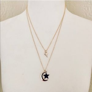 Jewelry - NWT Moon and Star Dainty Necklace